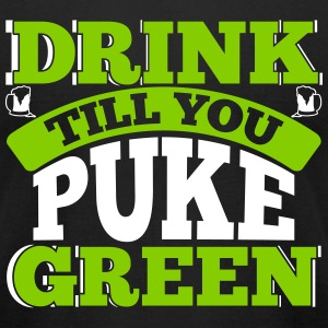 St. Patrick's Day: DRINK TILL YOU PUKE GREEN T-shirts - T-shirt pour hommes American Apparel
