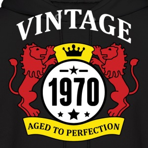 Vintage 1970 Aged to Perfection Hoodies - Men's Hoodie