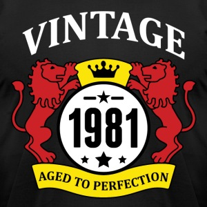 Vintage 1981 Aged to Perfection T-Shirts - Men's T-Shirt by American Apparel