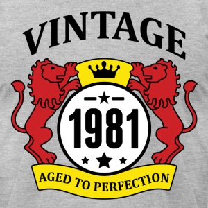 Vintage 1981 Aged to Perfection, T-Shirts - Men's T-Shirt by American Apparel