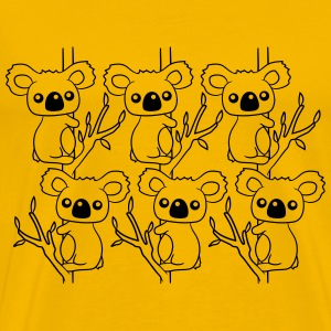 many sweet little cute koalas grapple buddies team T-Shirts - Men's Premium T-Shirt