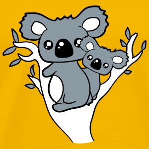 sweet little cute koala mamapapa child baby family T-Shirts - Men's Premium T-Shirt