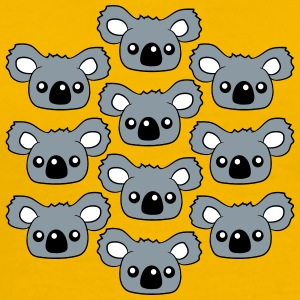 sweet little cute koala head face pattern design T-Shirts - Men's Premium T-Shirt