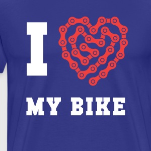 Cyclists I love my bike Cycling T Shirt T-Shirts - Men's Premium T-Shirt