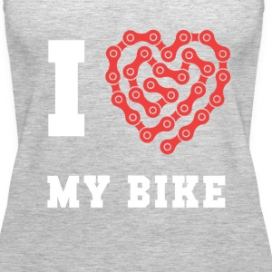 Cyclists I love my bike Cycling T Shirt Tanks - Women's Premium Tank Top