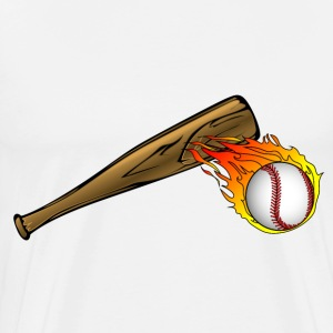 baseball bat with flaming ball - Men's Premium T-Shirt
