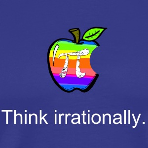 Apple Pi Rainbow:Think Irrationally  T-Shirts - Men's Premium T-Shirt
