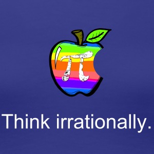Apple Pi Rainbow:Think Irrationally  Women's T-Shirts - Women's Premium T-Shirt