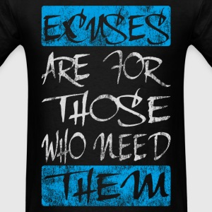 excuses white blue - Men's T-Shirt