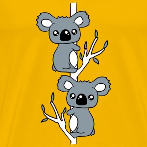 2 sweet little cute koalas grapple buddies team co T-Shirts - Men's Premium T-Shirt