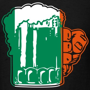 Irish Beer Mug Flag T-Shirts - Men's T-Shirt