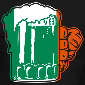 Irish Beer Mug Flag T-Shirts - Men's Ringer T-Shirt
