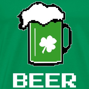 Green Beer 8 Bit Pixel T-Shirts - Men's Premium T-Shirt