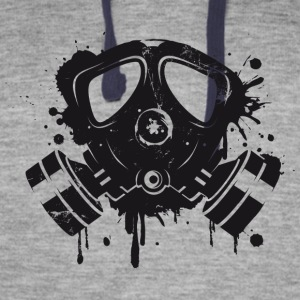 Gas mask graffiti Hoodies - Colorblock Hoodie