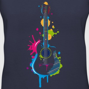Graffiti guitar Women's T-Shirts - Women's V-Neck T-Shirt
