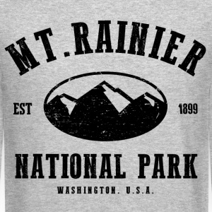 Mt. Rainier National Park Long Sleeve Shirts - Crewneck Sweatshirt