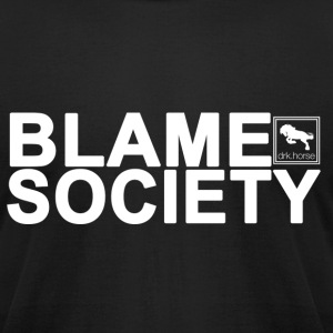 Blame Society - Men's T-Shirt by American Apparel