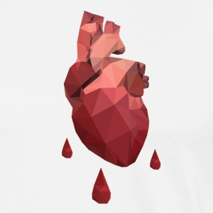Low Poly Bleeding Heart Shirt - Men's Premium T-Shirt