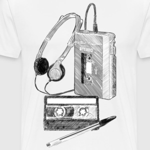 Walkman, Cassette and Pen - Men's Premium T-Shirt
