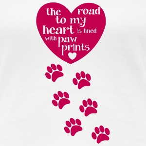 Road to My Heart is Lined with Pawprints - Women's Premium T-Shirt