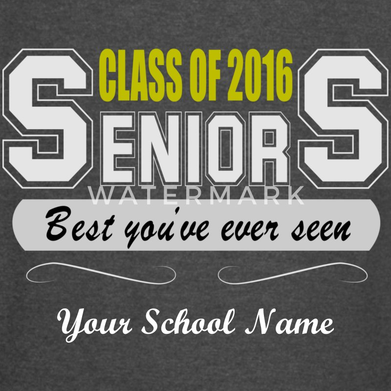 Class 2016 Seniors Men's Vintage Sports T-Shirts - Vintage Sport T-Shirt