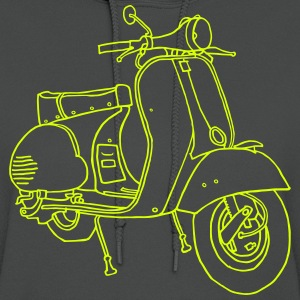 Motor scooter (neon yellow) - Women's Hoodie