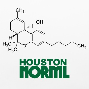 THC Molecule Houston NORML Cotton Pillow Case - Pillowcase