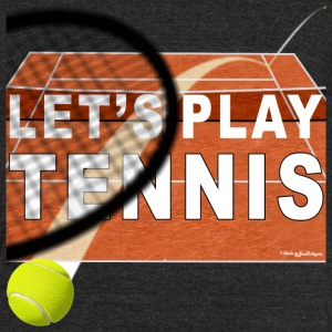 Let's Play Tennis T Shirts, Clay Court T-Shirts - Unisex Tri-Blend T-Shirt by American Apparel