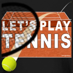 Let's Play Tennis T Shirts, Clay Court Kids' Shirts