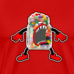 Angry Jelly Beans Jar - Men's Premium T-Shirt