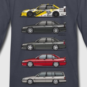 Stack of Opel Omegas / Vauxhall Carlton A Kids' Shirts - Kids' Long Sleeve T-Shirt
