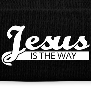 Jesus is the way Caps - Knit Cap with Cuff Print