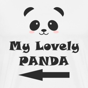 My Lovely Panda MAN WOMAN COUPLE T-Shirts - Men's Premium T-Shirt