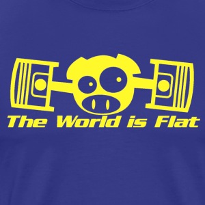 The World Is Flat Rally Pig T-Shirts - Men's Premium T-Shirt
