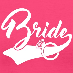bride Women's T-Shirts - Women's V-Neck T-Shirt