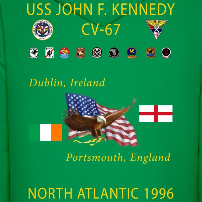 USS JOHN F KENNEDY CV-67 1996 CRUISE HOODIE