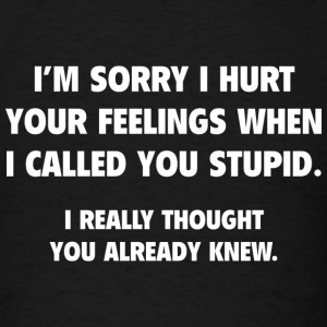 I Called You Stupid - Men's T-Shirt