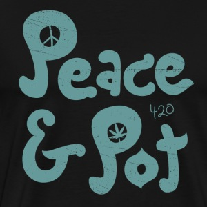 Peace & Pot - Men's Premium T-Shirt
