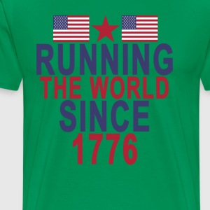 running_the_world_since_1776 - Men's Premium T-Shirt