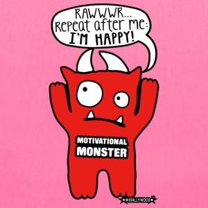 Motivational Monster I'm happy, Wishllywood ™ Bags & backpacks - Tote Bag