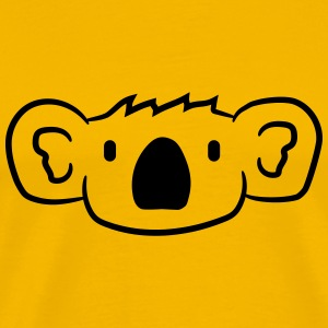 koala face head sweet cute happy comic T-Shirts - Men's Premium T-Shirt