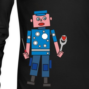 robot man Long Sleeve Shirts - Men's Long Sleeve T-Shirt by Next Level