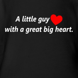 A Little Guy With A Great Big Heart Baby Bodysuits - Short Sleeve Baby Bodysuit
