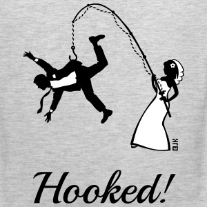 Hooked! (Bride Fishing Groom / Stag Party) Tank - Men's Premium Tank