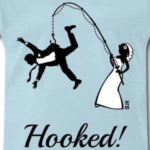 Hooked! (Bride Fishing Groom / Stag Party) T-Shirt - Men's Premium T-Shirt