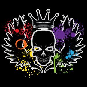 Skull Rainbow Splat LGBT