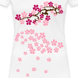 Hanami Sakura right 2 Women's T-Shirts - Women's Premium T-Shirt