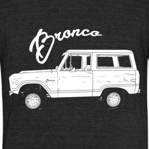 The Bronco - Unisex Tri-Blend T-Shirt by American Apparel