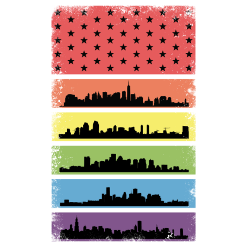Rainbow Skyline LGBT Flag Pride