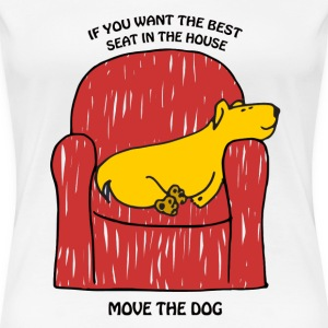 Dog in Armchair - Women's Premium T-Shirt